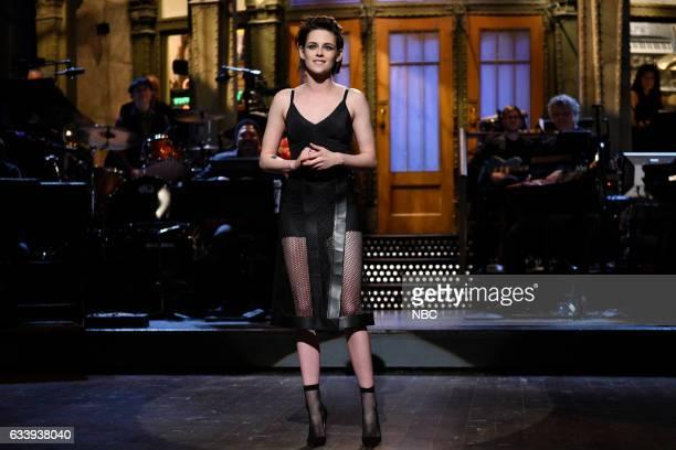 LIVE 'Kristen Stewart' Episode 1717 Pictured Host Kristen Stewart during the Monologue on February 4th 2017