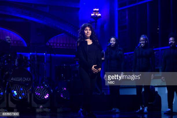 LIVE 'Kristen Stewart' Episode 1717 Pictured Musical guest Alessia Cara performs on February 4th 2017