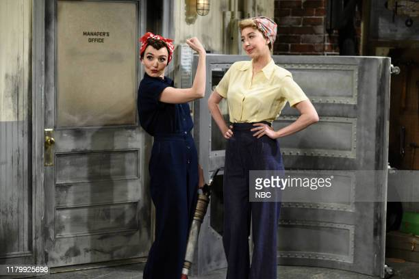 LIVE Kristen Stewart Episode 1772 Pictured Chloe Fineman as Rosie the Riveter and Heidi Gardner as Donna the Shell Shiner during the Rosie The...
