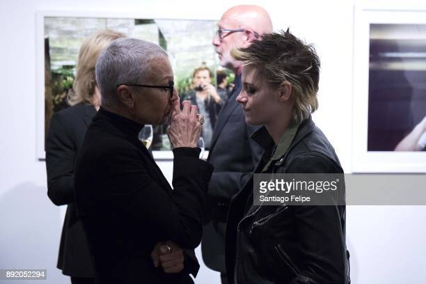 Kristen Stewart Irina and Victor Yelchin attend the 'Anton Yelchin Provocative Beauty' Opening Night Exhibition at De Buck Gallery on December 13...