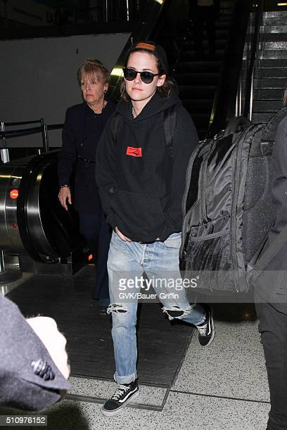 Kristen Stewart is seen at LAX on February 17 2016 in Los Angeles California