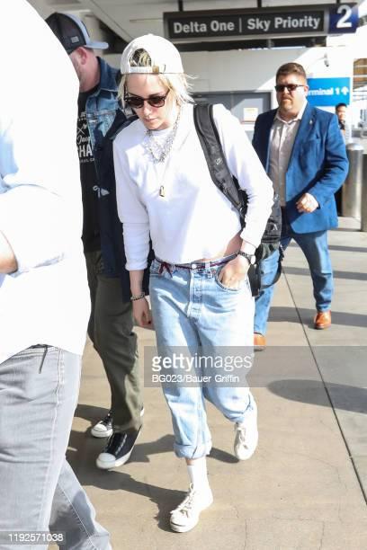 Kristen Stewart is seen on January 08 2020 in Los Angeles California