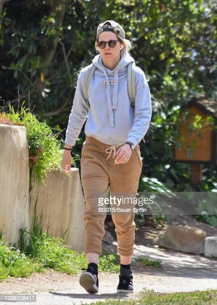 Kristen Stewart is seen on March 08 2020 in Los Angeles California
