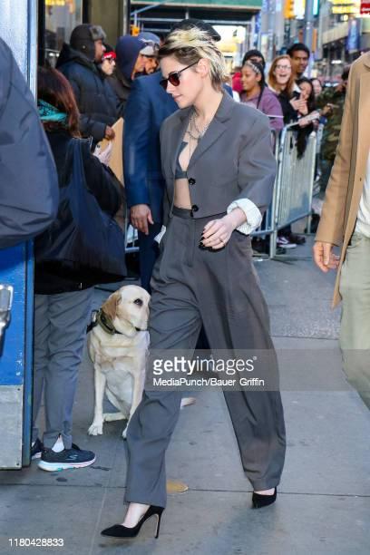 Kristen Stewart is seen on November 06 2019 in New York City