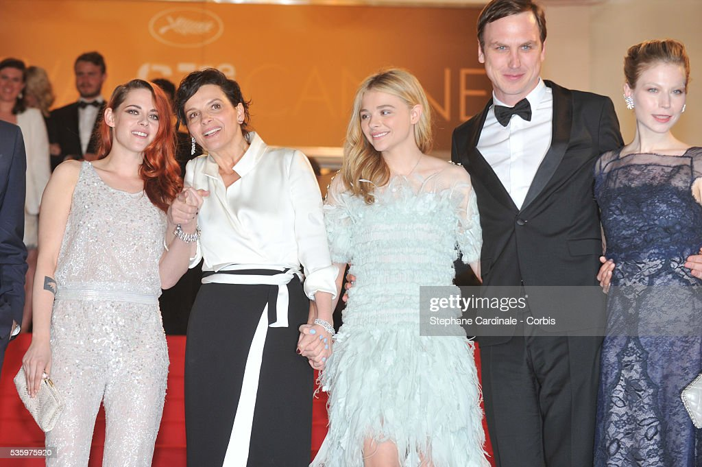 Kristen Stewart, Juliette Binoche and Chloe Grace Moretz, guest and Nora von Waldstaetten after the 'Clouds Of Sils Maria' Premiere at the 67th Annual Cannes Film Festival