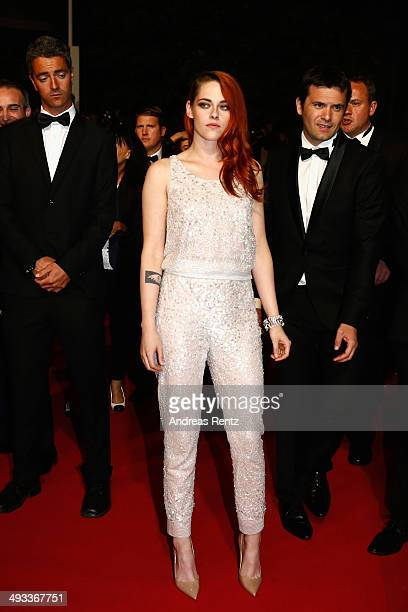 Kristen Stewart leaves the 'Clouds Of Sils Maria' premiere during the 67th Annual Cannes Film Festival on May 23 2014 in Cannes France