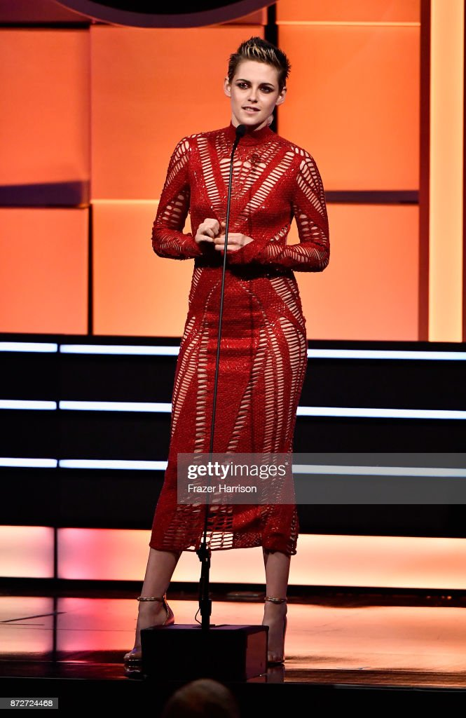 Kristen Stewart speaks onstage during the 31st Annual American Cinematheque Awards Gala at The Beverly Hilton Hotel on November 10, 2017 in Beverly Hills, California.