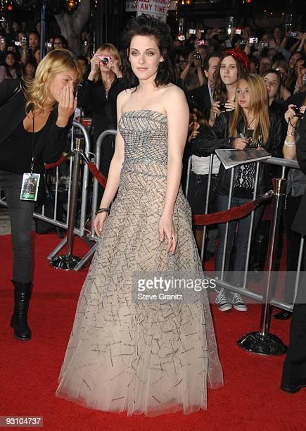 Kristen Stewart the premiere of Summit Entertainment's 'The Twilight Saga New Moon' on November 16 2009 in Westwood California