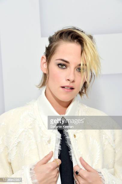 Kristen Stewart virtually attends the Chanel Womenswear Spring Summer 2021 held at the Grand Palais on October 06, 2020 in Paris, France.