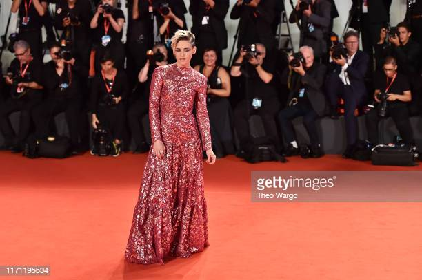 """Kristen Stewart walks the red carpet ahead of the """"Seberg"""" screening during the 76th Venice Film Festival at Sala Grande on August 30, 2019 in..."""