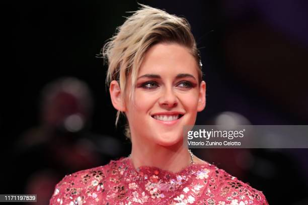 "Kristen Stewart walks the red carpet ahead of the ""Seberg"" screening during during the 76th Venice Film Festival at Sala Grande on August 30, 2019 in..."