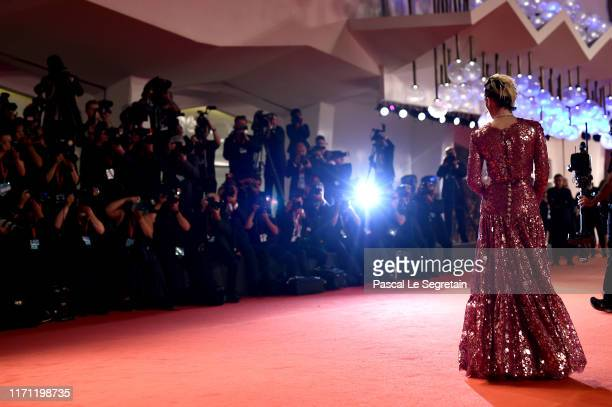 Kristen Stewart walks the red carpet ahead of the Seberg screening during the 76th Venice Film Festival at Sala Grande on August 30 2019 in Venice...