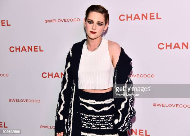 Kristen Stewart wearing Chanel attends a Chanel Party to Celebrate the Chanel Beauty House and @WELOVECOCO at Chanel Beauty House on February 28 2018...