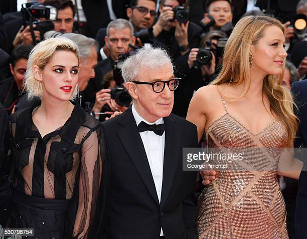 "Kristen Stewart, Woody Allen and Blake Lively attends the screening of ""Cafe Society"" at the opening gala of the annual 69th Cannes Film Festival at..."