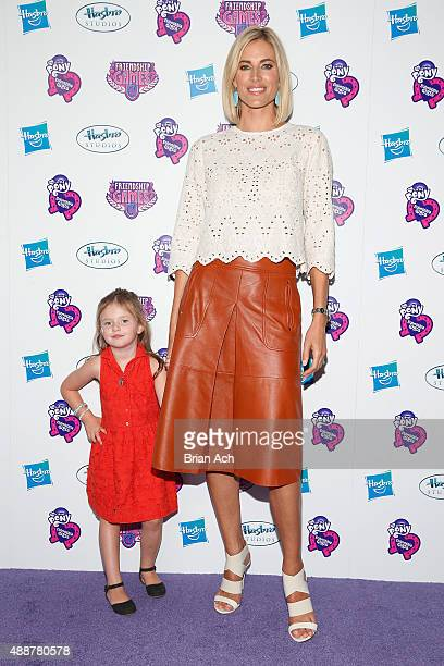 Kristen Taekman and daughter Kingsley Taekman arrive at the My Little Pony Equestria Girls Friendship Games premiere September 17 2015 at the...