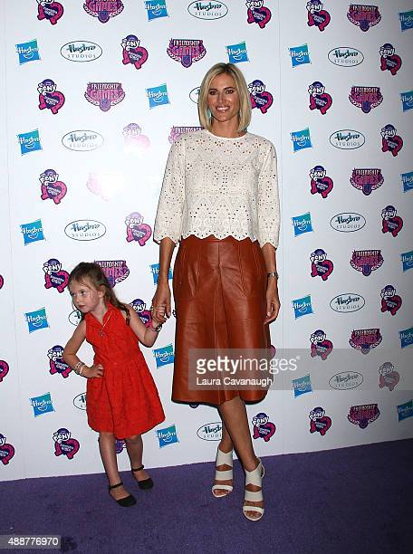 Kristen Taekman and daughter Kingsley Taekman attends the My Little Pony Equestria Girls Friendship Games New York Premiere at Angelika Film Center...