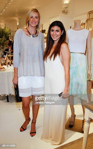 Kristen Taekman and JamieLynn Sigler attend Hampton Magazine Celebration of The Club Monaco Southampton Store Opening on June 28 2014 in Southampton