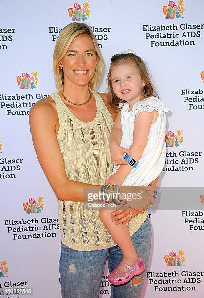 Kristen Taekman and Kingsley Taekman attend Elizabeth Glaser Pediatric AIDS Foundation's Kids 4 Kids Family Festival at Chelsea Piers Field House on...