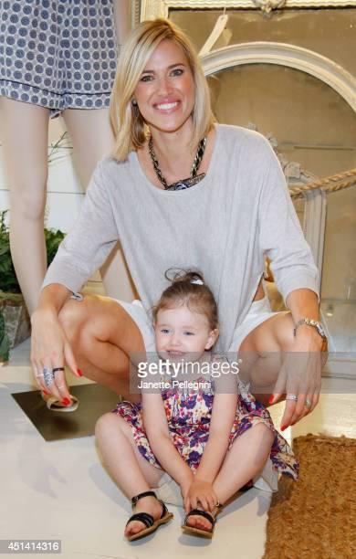 Kristen Taekman and Kingsley Taekman attend Hampton Magazine Celebration of The Club Monaco Southampton Store Opening on June 28 2014 in Southampton