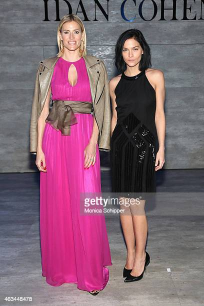 Kristen Taekman annd DJ Leigh Lezark attend the Idan Cohen fashion show during MercedesBenz Fashion Week Fall 2015 at The Pavilion at Lincoln Center...