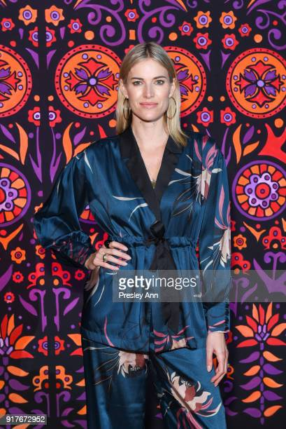 Kristen Taekman attends Anna Sui Front Row February 2018 New York Fashion Week at Spring Studios on February 12 2018 in New York City