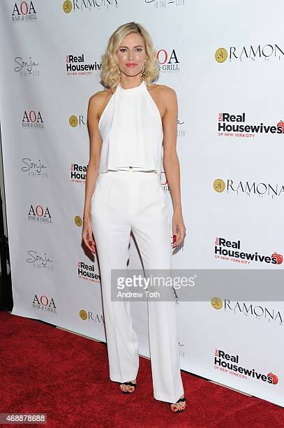 Kristen Taekman attends the Real Housewives of New York City season 7 series viewing party at AOA Bar Grill on April 7 2015 in New York City