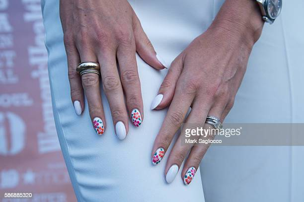 Kristen Taekman beauty detail attends the Women's Health Magazine Party Under the Stars at Bridgehampton Surf Tennis on August 6 2016 in...