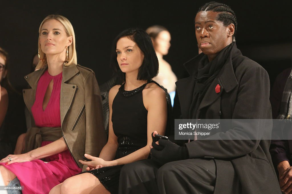 Kristen Taekman, DJ and recording artist Leigh Lezark of the Misshapes and J. Alexander attend the Idan Cohen fashion show during Mercedes-Benz Fashion Week Fall 2015 at The Pavilion at Lincoln Center on February 14, 2015 in New York City.