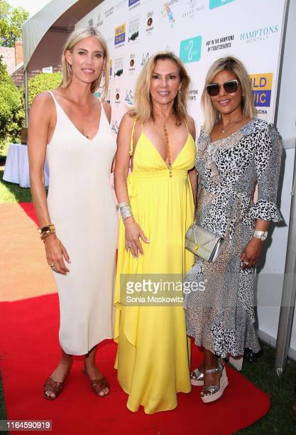 Kristen Taekman, Ramona Singer and Pettifleur Berenger at Hot in the Hamptons, by Ticket2Events on July 27, 2019 at Thomas Halsey Homestead, in...