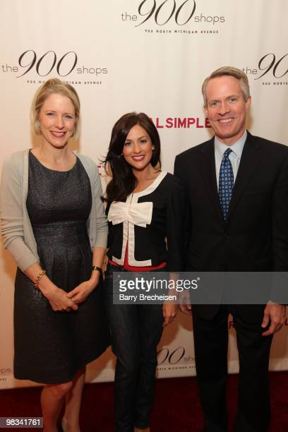 Kristen van Ogtrop, Jillian Harris and Kevin White attend the Real Simple 10th anniversary kick-off event at The 900 Shops on April 8, 2010 in...