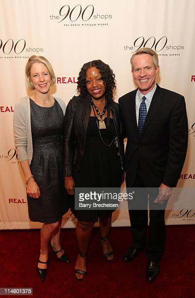 Kristen van Ogtrop, Tracy Reese and Kevin White attend the Real Simple 10th anniversary kick-off event at The 900 Shops on April 8, 2010 in Chicago,...