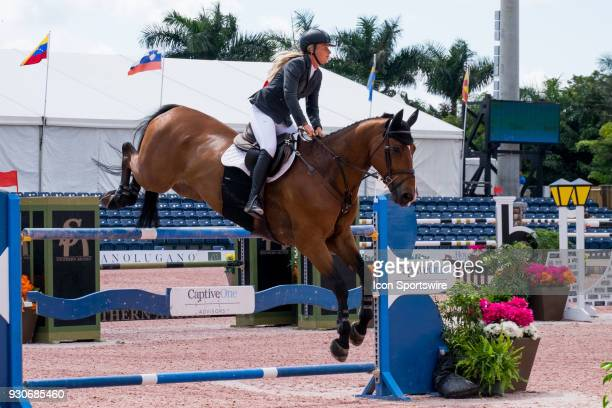 Kristen Vanderveen during the $70000 Hollow Creek 150M Classic at the Winter Equestrian Festival at The Palm Beach International Equestrian Center in...
