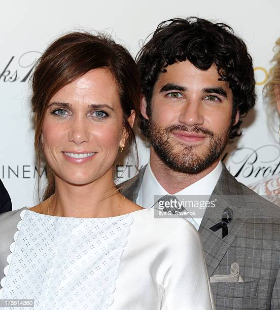 "Kristen Wiig and Darren Criss attend The Cinema Society & Brooks Brothers Host A Screening Of Lionsgate And Roadside Attractions' ""Girl Most Likely""s..."