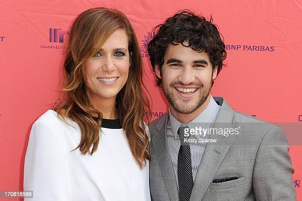 Kristen Wiig and Darren Criss attend the 'Imogene' Paris Premiere as part of The Champs Elysees Film Festival 2013 at Publicis Champs Elysees on June...