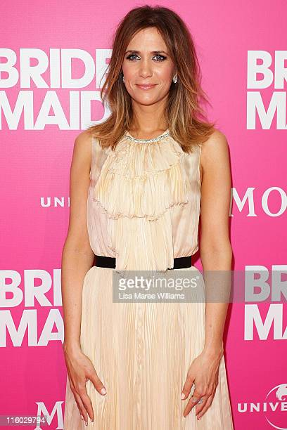 Kristen Wiig arrives at Bridesmaids Celebrity Girls Night Out to celebrate the Australian premiere at Event Cinemas George Street on June 14 2011 in...