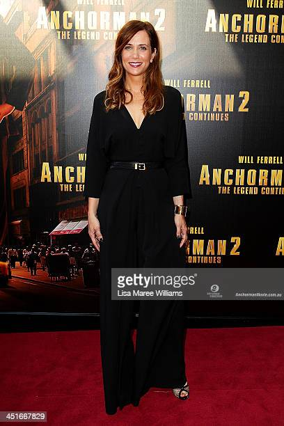 """Kristen Wiig arrives at the """"Anchorman 2: The Legend Continues"""" Australian premiere at The Entertainment Quarter on November 24, 2013 in Sydney,..."""