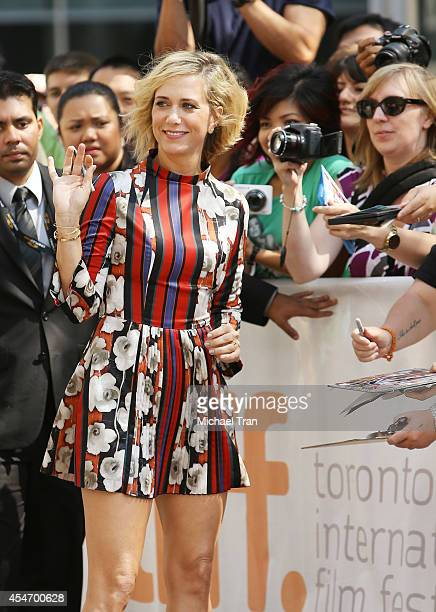 Kristen Wiig arrives at the premiere of Welcome To Me held during the 2014 Toronto International Film Festival Day 2 on September 5 2014 in Toronto...