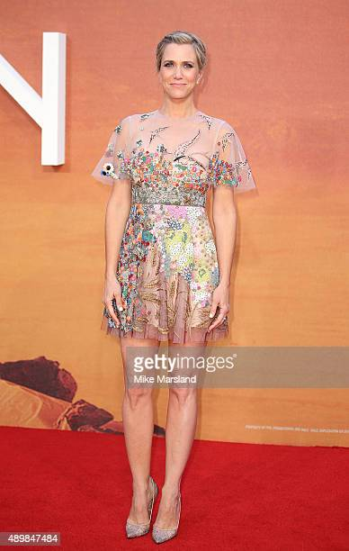Kristen Wiig attends the European premiere of 'The Martian' at Odeon Leicester Square on September 24 2015 in London England