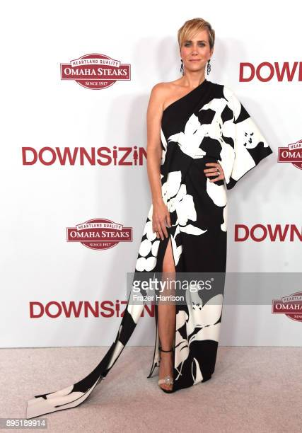 Kristen Wiig attends the Los Angeles Special Screening of 'Downsizing' at The Regency Village Theatre onDecember 18, 2017 in Westwood, CA.