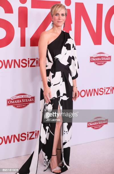 Kristen Wiig attends the premiere of Paramount Pictures special screening of 'Downsizing' on December 18 2017 in Los Angeles California
