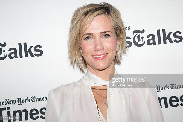 Kristen Wiig attends TimesTalks Presents An Evening With Kristen Wiig And Shira Piven at Times Center on April 28 2015 in New York City