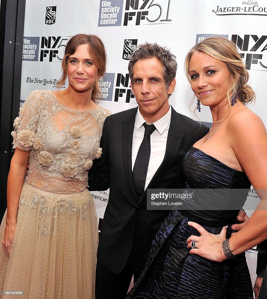 Kristen Wiig, Ben Stiller and Christine Taylor attend the Centerpiece Gala Presentation Of 'The Secret Life Of Walter Mitty' during the 51st New York Film Festival at Alice Tully Hall at Lincoln Center on October 5, 2013 in New York City.