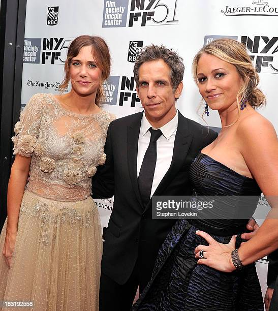 Kristen Wiig Ben Stiller and Christine Taylor attend the Centerpiece Gala Presentation Of The Secret Life Of Walter Mitty during the 51st New York...