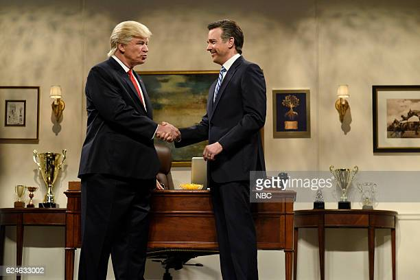 LIVE Kristen Wiig Episode 1711 Pictured Alec Baldwin as Donald Trump and Jason Sudeikis as Mitt Romney during the Donald Trump Prepares Cold Open...