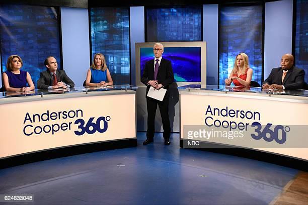 LIVE Kristen Wiig Episode 1711 Pictured Cecily Strong as Gloria Borger Kyle Mooney as David Axelrod Kristen Wiig as Dana Bash Alex Moffat as Anderson...