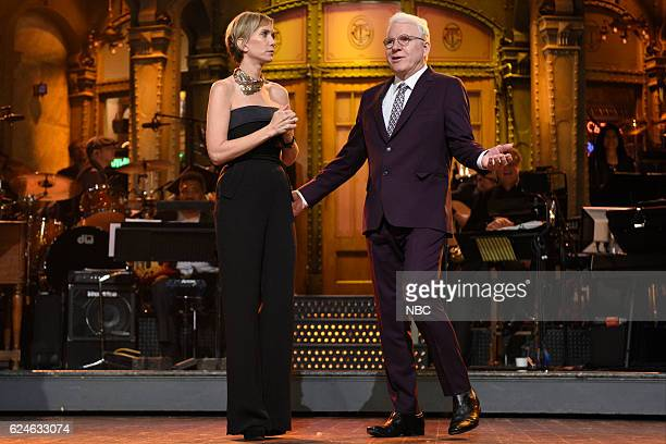 LIVE Kristen Wiig Episode 1711 Pictured Kristen Wiig and Steve Martin during Kristen Wiig's Thanksgiving Monologue on November 19 2016