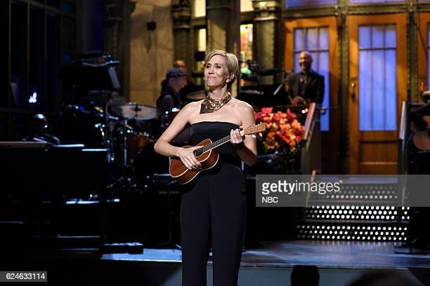 LIVE Kristen Wiig Episode 1711 Pictured Kristen Wiig during Kristen Wiig's Thanksgiving Monologue on November 19 2016