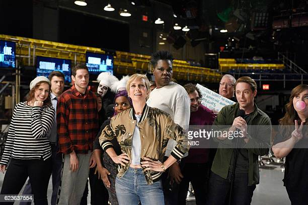 LIVE Kristen Wiig Episode 1711 Pictured Vanessa Bayer Colin Jost Pete Davidson Sasheer Zamata host Kristen Wiig Leslie Jones Kyle Mooney Wally...