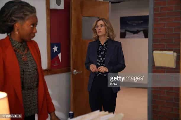 """Kristen Wiig"""" Episode 1794 -- Pictured: Host Kristen Wiig during the """"A Teacher"""" sketch on Saturday, December 19, 2020 --"""