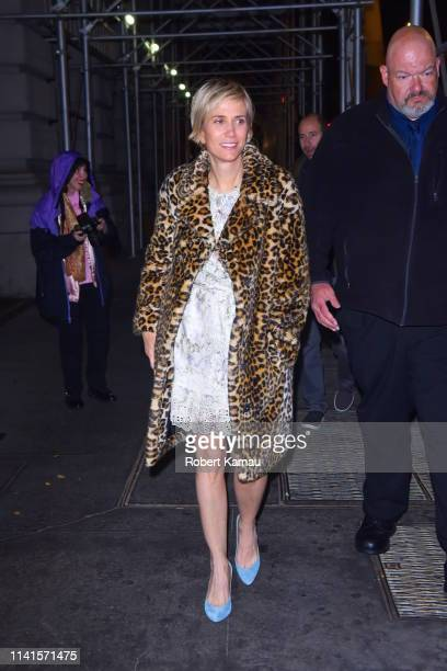Kristen Wiig is seen arriving at an SNL after party at Rosa Mexicano in Manhattan on May 4, 2019 in New York City.
